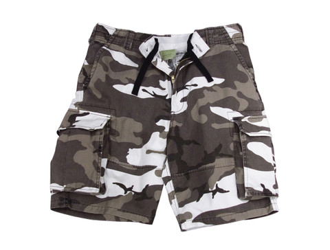 Vintage Urban Camo Fatigue Cargo Shorts