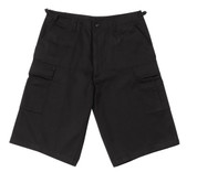 Longer Black BDU Short - View