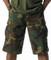 Woodland Camo Longer BDU Shorts - Model View