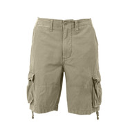 Vintage Infantry Khaki Fatigue Shorts - Front View