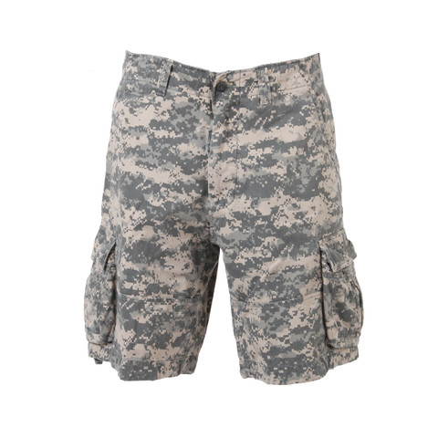 Vintage ACU Digital Camo Infantry Shorts - Full Front View