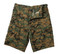 Woodland Digi Camo BDU Military Shorts - Flat View