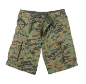 Vintage Woodland Digital Camo Shorts - View