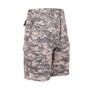ACU Digital Camo BDU Military Shorts - Right Side View
