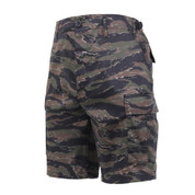 Tiger Stripe Camo BDU Military Shorts - Front Angle View