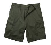Olive Drab BDU Military Shorts - Ripstop Cotton