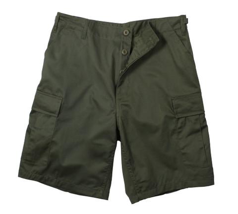 Olive Drab BDU Military Shorts - Flat View