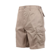 Khaki BDU Military Shorts - Front View