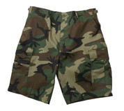 Woodland Camo BDU Military Shorts - Poly Cotton