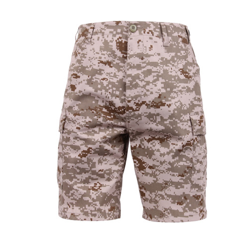 Desert Digital Camouflage BDU Military Shorts - Front View