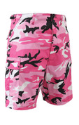 Pink Camo BDU Military Shorts - Front View
