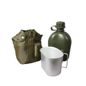 3 Piece Canteen Kit w/Cover & Aluminum Cup