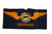 Vintage U.S. Army AWS Air Force Observer Armband