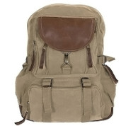Vintage Khaki Retro Parisian City Daypack - View