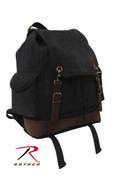 Vintage Black Expedition Rucksack - Rothco View