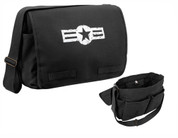 Classic Army Air Corps Messenger Bag - Black