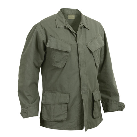 Vintage Vietnam Era O.D. Ripstop Jungle Jacket - Right Side View