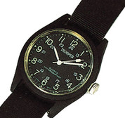 Black Quartz Field Watch