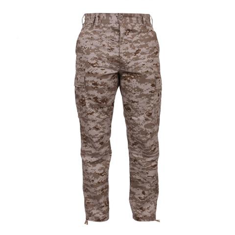 USMC style Desert Digital Camo BDU Pants - Front View