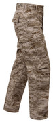 USMC style Desert Digital Camo BDU Pants - Right Side View