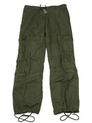 Women's Olive Vintage Paratrooper Fatigue Pants - View