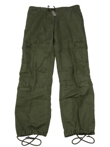 Women's Olive Vintage Paratrooper Fatigue Pants - View
