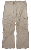 Womens Stone Vintage Paratrooper Fatigue Pants - View