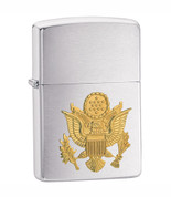 Army Crest Zippo Chrome Lighter