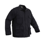 Rothco Black BDU Fatigue Jacket - Poly/Cotton - Right Side View