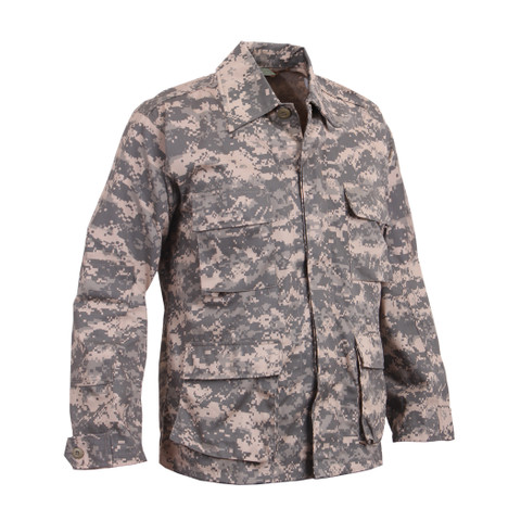 Army ACU Digital Camo BDU Fatigue Jacket - Right Side View