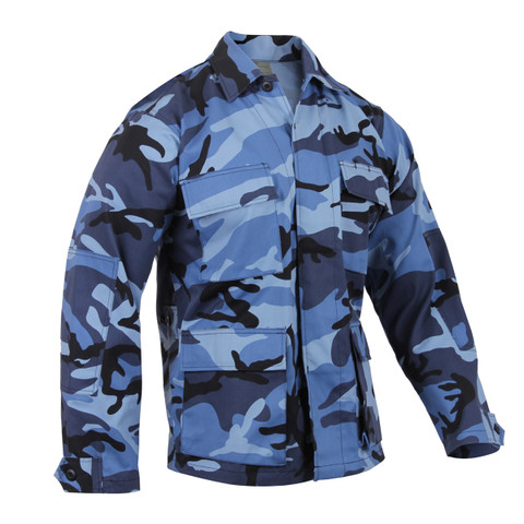 Shop Sky Blue Camo Color BDU Jackets - Fatigues Army Navy Gear