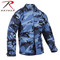 Sky Blue Camo BDU Fatigue Jacket - Rothco Brand