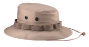 Khaki Military Boonie Hat - Poly/Cotton