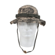 Military ACU Digital Camouflage Boonie Hat - Front View