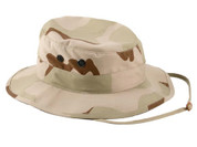 Tri Color Desert Camouflage Military Boonie Hat - View