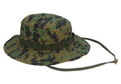 Woodland Digital Camouflage Boonie Hat - Full View
