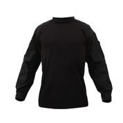 Black Tactical Combat Shirt - Front View
