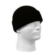 U.S. Navy Black Wool Watch Cap - Side Front View