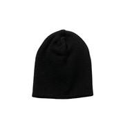 Deluxe Black Knit Skull Cap