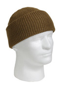 Coyote Brown Wool Watch Cap - View