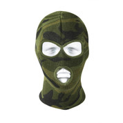 Deluxe Camo 3 Hole Face Mask - View