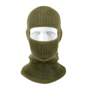 Olive Drab One Hole Face Mask - View