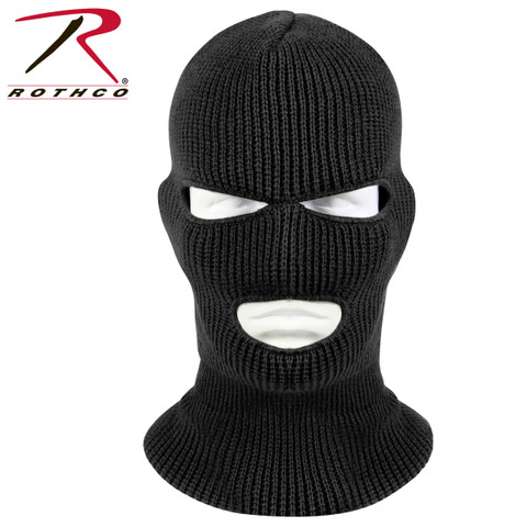 Black 3 Hole Face Mask - Rothco View