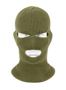 Olive Drab 3 Hole Face Mask - View