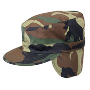 Camo Ranger Cold Weather Cap w/Ear Flaps - Ear Flap View