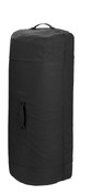 "Black Heavy Canvas 42""Large Side Zipper Duffle Bag - View"