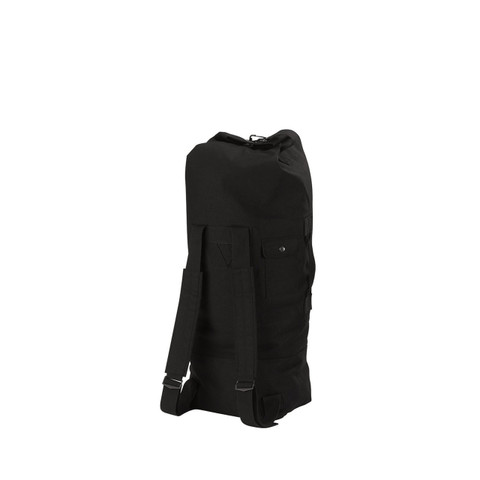Black Backpack Canvas Duffle Bag - View