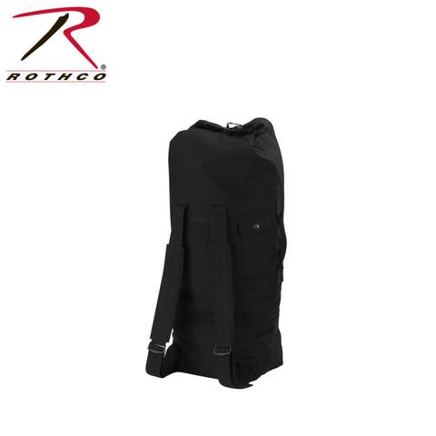 Black Backpack Canvas Duffle Bag - Rothco