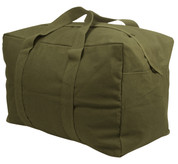 Olive Drab Canvas Parachute Cargo Bag - View