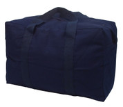Navy Canvas Parachute Cargo Bag - View